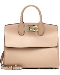 Ferragamo - Studio Leather Shoulder Bag - Lyst