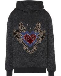 Dolce & Gabbana - Embroidered Cotton-blend Hoodie - Lyst
