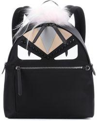 Fendi - Fur-trimmed Backpack - Lyst