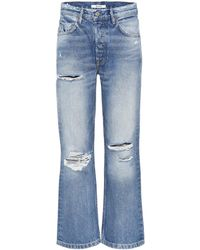 GRLFRND - Linda Cropped High-waisted Jeans - Lyst