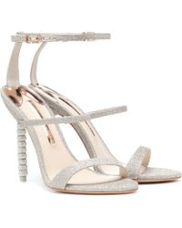 Sophia Webster - Rosalind Crystal-embellished Glitter Sandals - Lyst