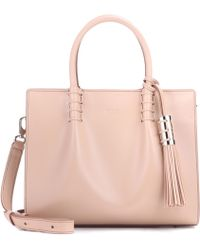 Tod's - Lady Moc Small Leather Tote - Lyst