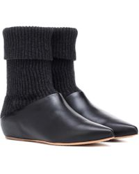 Gabriela Hearst - Rocia Knit And Leather Ankle Boots - Lyst