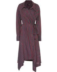 Isabel Marant | Mila Striped Cotton Wrap Dress | Lyst