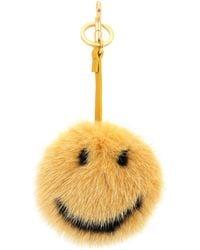 Anya Hindmarch - Smiley Mink Fur Bag Charm - Lyst
