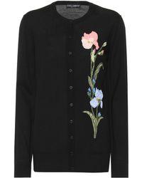 Dolce & Gabbana - Verzierter Cardigan aus Wolle - Lyst
