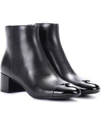 Tory Burch - Shelby Leather Ankle Boots - Lyst