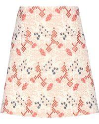 Vanessa Bruno - Cotton-blend Jacquard Miniskirt - Lyst
