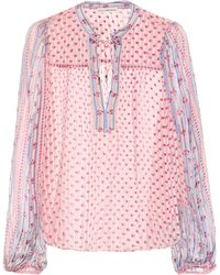 Ulla Johnson - Constance Printed Silk Blouse - Lyst