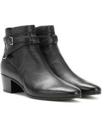 Saint Laurent - Blake 40 Jodhpur Leather Ankle Boots - Lyst