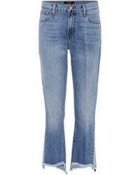 J Brand - Cropped Jeans Aubrie - Lyst