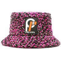 ebdd89972a3 Prada - Wool-blend Bucket Hat - Lyst