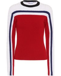 RED Valentino - Striped Wool Sweater - Lyst