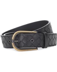 Bottega Veneta - Intrecciato Leather Belt - Lyst