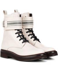 b58fe7d41769cb brunello-cucinelli-white-Exklusiv-bei-Mytheresa-Ankle-Boots-aus-Leder.jpeg