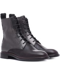Brunello Cucinelli - Leather Ankle Boots - Lyst