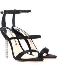 Sophia Webster - Rosalind Crystal-embellished Satin Sandals - Lyst