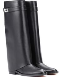 Givenchy - Pant Shark Lock Leather Boots - Lyst