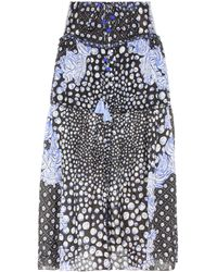 Poupette - Printed Silk Skirt - Lyst