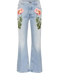 Gucci - Embroidered Flared Jeans - Lyst