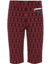 Prada - Gemusterte Shorts aus Jacquard - Lyst