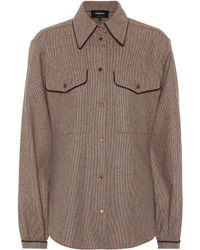Rochas - Checked Wool-blend Shirt - Lyst