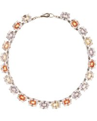 Bottega Veneta - Glass Crystal And Sterling Silver Necklace - Lyst