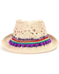 Poupette - Chacha Embellished Hat - Lyst