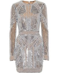 Balmain - Embellished Minidress - Lyst