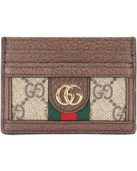 b703a1d13881 Gucci - Ophidia Leather Card Holder - Lyst