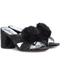 Marc Jacobs - Embellished Jacquard Sandals - Lyst