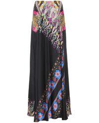Etro - Printed Silk Maxi Skirt - Lyst