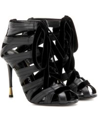 95509424be9b Lyst - Tom Ford Calfskin Lace-Up Sandal in Black
