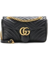 dc0effdf1b0 Gucci - GG Marmont Leather Shoulder Bag - Lyst