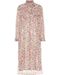 Étoile Isabel Marant - Bedrucktes Kleid Eliane aus Baumwolle - Lyst