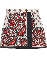 RED Valentino - Printed Cotton Shorts - Lyst
