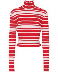 Prada - Striped Mock-neck Sweater - Lyst