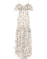 Johanna Ortiz - Ruffled Silk Maxi Dress - Lyst