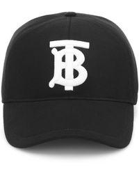 Burberry - Baseball Cap With Tb Logo - Lyst