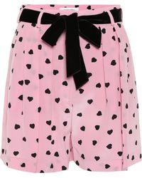 Valentino - Printed Silk Shorts - Lyst