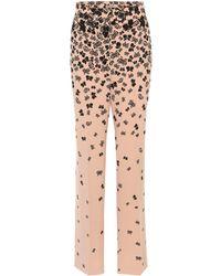 Bottega Veneta - Pantalones de pierna ancha con estampado de mariposas - Lyst