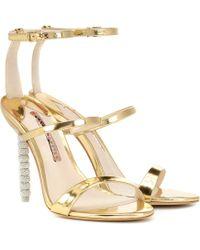 Sophia Webster - Rosalind Crystal-embellished Leather Sandals - Lyst