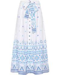 Gül Hürgel - Printed Linen Midi Skirt - Lyst