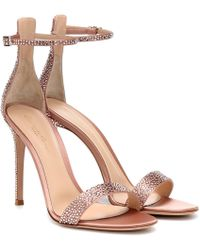 1dae94e855e8 Gianvito Rossi - Glam Crystal-embellished Sandals - Lyst