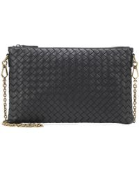Bottega Veneta - Intrecciato Leather Chain Wallet - Lyst