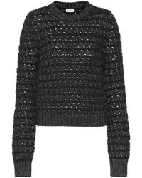 Saint Laurent - Mohair And Wool-blend Sweater - Lyst
