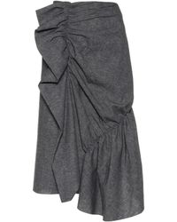 J.W.Anderson - Exclusive To Mytheresa. Com – Gathered Cotton Skirt - Lyst