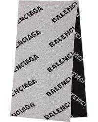 Balenciaga - Camel And Wool Scarf - Lyst