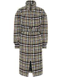 a756aa3e691 Lyst - Miu Miu Virgin Wool-crêpe Coat in Natural