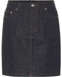 A.P.C. - Falda de jeans - Lyst